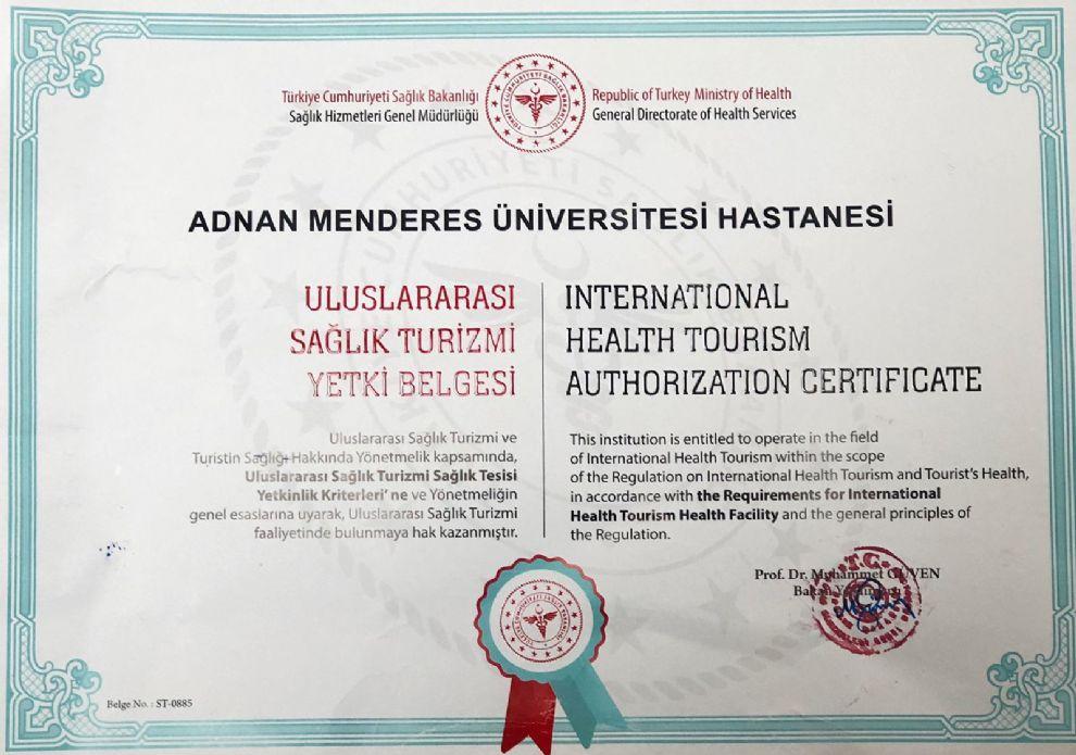 Hastanemiz Uluslararası Sağlık Turizmi Yetki Belgesi Aldı